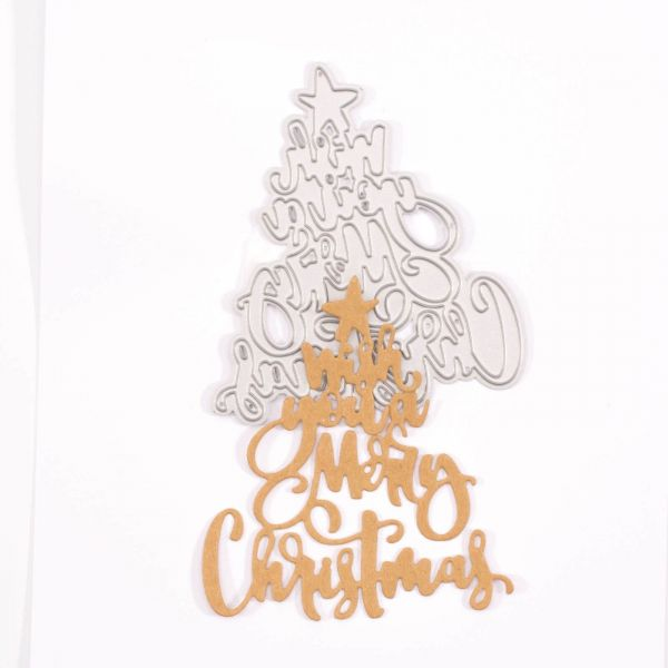 "Vaessen Creative Stanzschablone Text ""Wish you a Merry Christmas"""